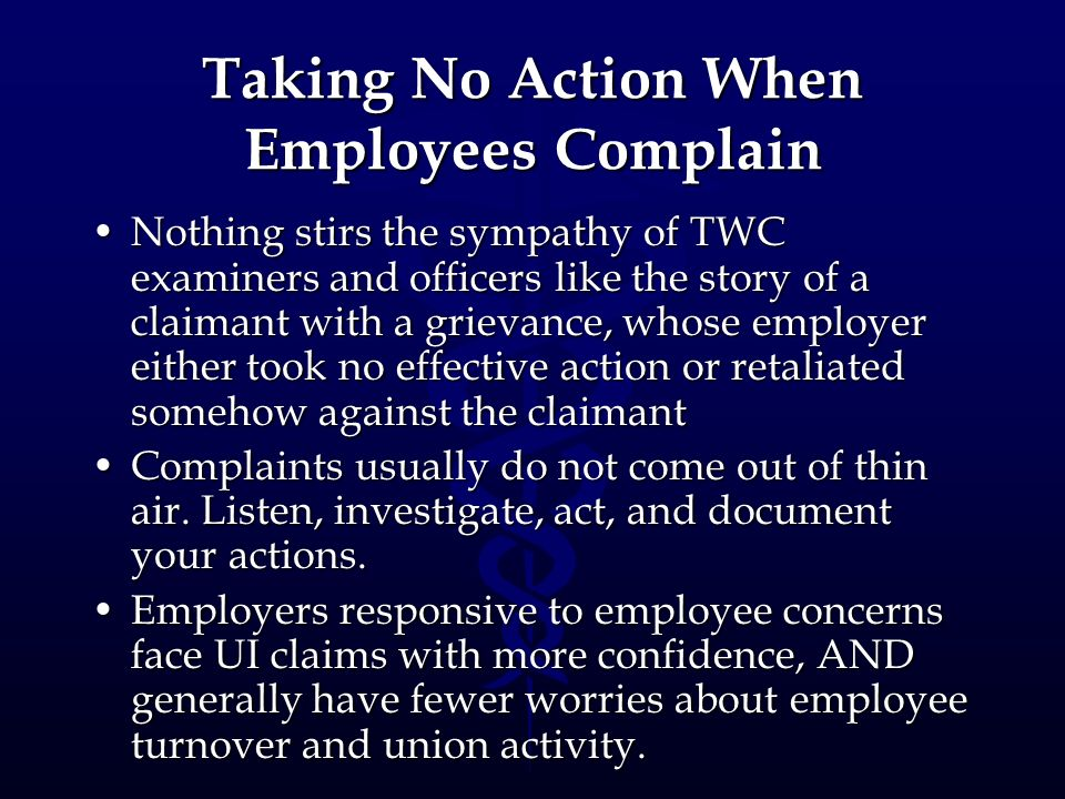 Taking No Action When Employees Complain