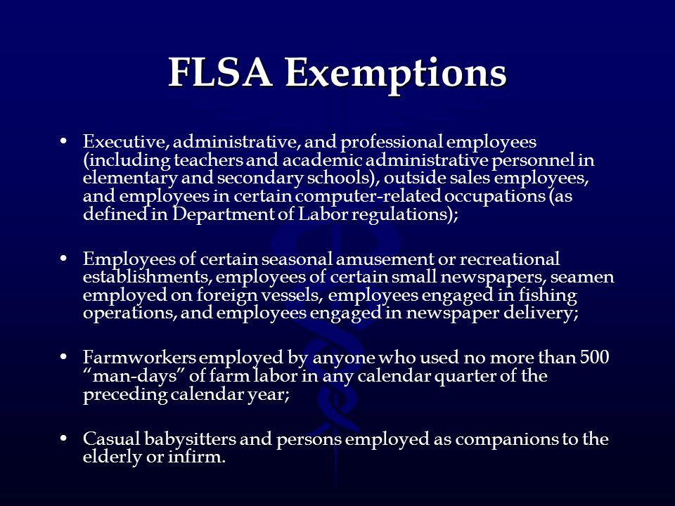 FLSA Exemptions