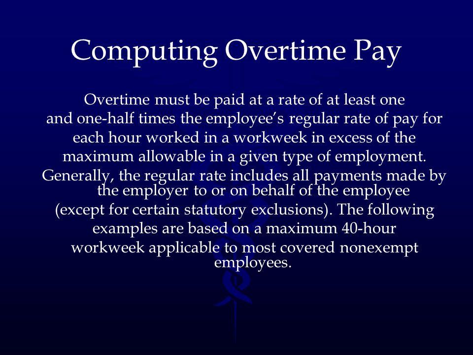 Computing Overtime Pay