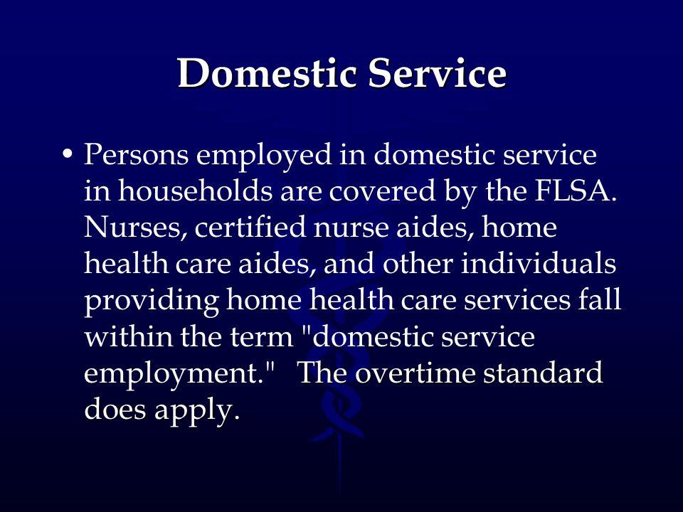 Domestic Service