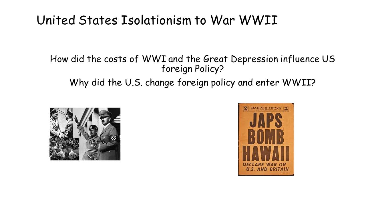 "us isolationism 1919 41 Us diplomatic decisions – 1919 to 1941 analyze the potential consequences of these decisions in light of international events during this period in history: nov 1919: us senate rejected versailles treaty ""return to normalcy"": 1920-1932 – us isolationism slideshow 1823002 by nitza."