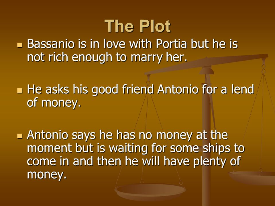 describe antonio and bassanios relationship test