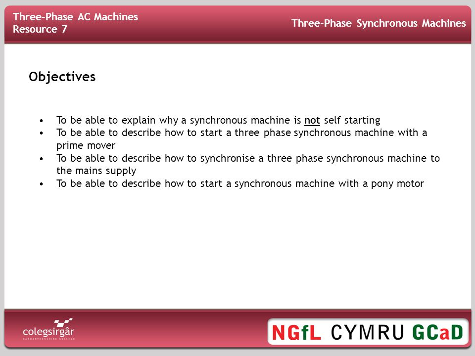 Objectives Three-Phase AC Machines Resource 7