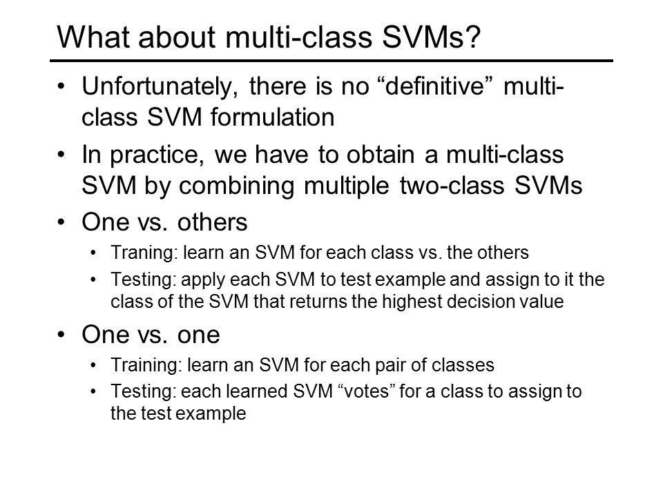 What about multi-class SVMs