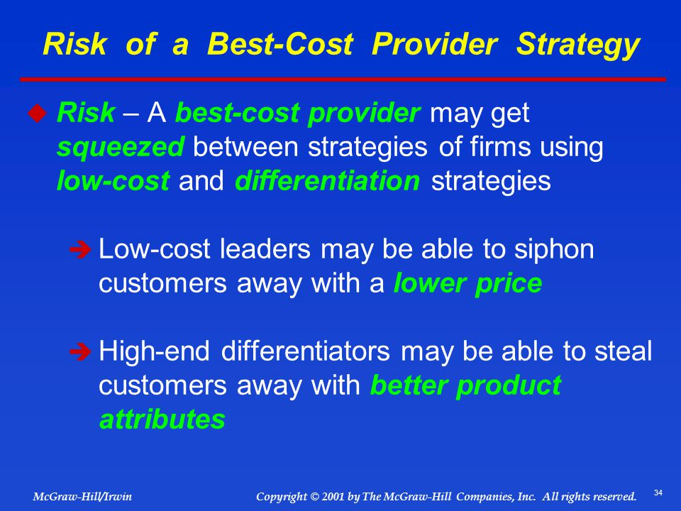 nike best cost provider strategy Describe the nature of focused cost leadership and focused differentiation know the advantages and disadvantages of focus as with a focused low-cost strategy.
