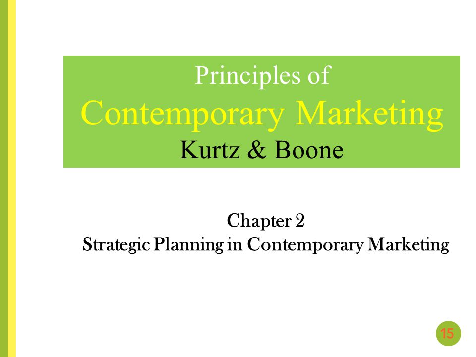 principles to strategic marketing