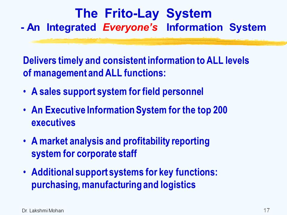 an analysis of the sales pattern and profitability of frito lay inc Pepsico inc profile, financial information, stock quotes charts, financial results, segments, competitors, fundamental analysis - csimarket.