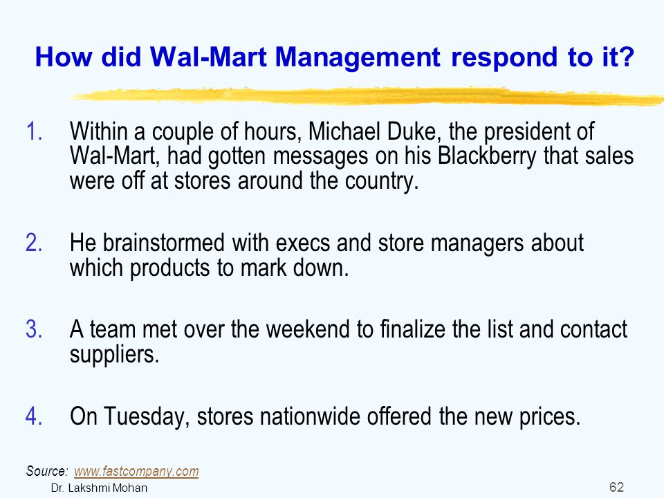 functions of management at wal mart View notes - walmart from mgt 330 at aachen university of applied sciences  control  the effectiveness of each control impacts the function management.