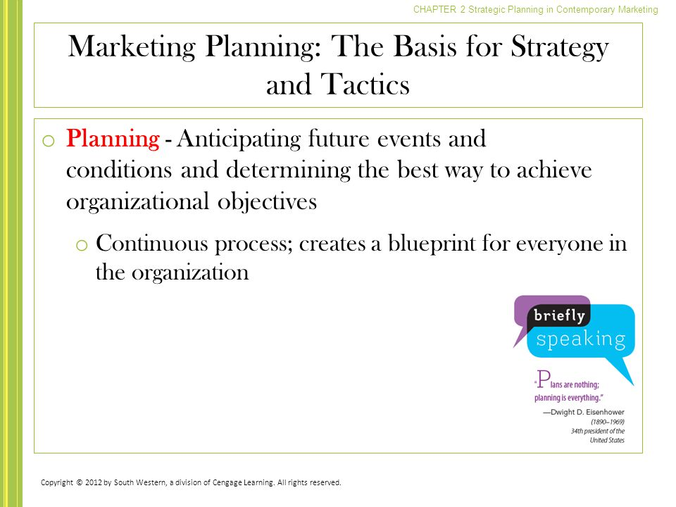 Marketing Planning: The Basis for Strategy and Tactics