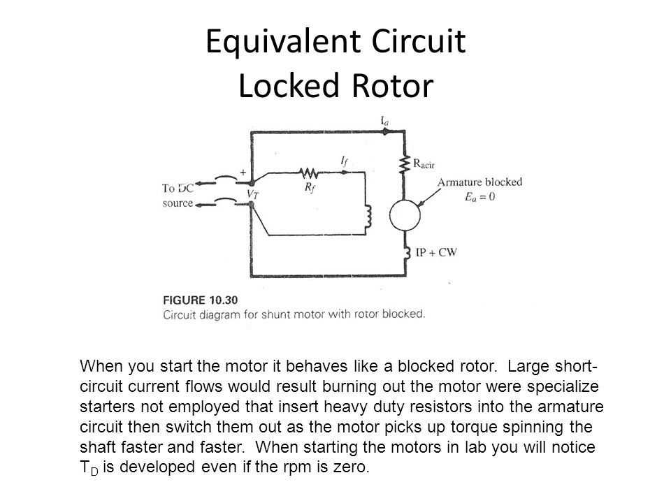 Equivalent Circuit Locked Rotor