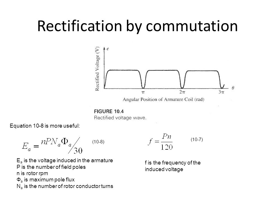 Rectification by commutation