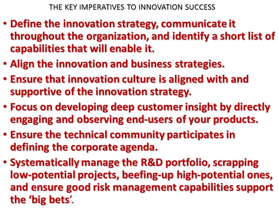 manage customer centric innovation systematically pdf