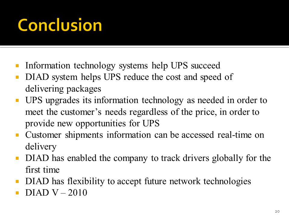conclusion of information technology