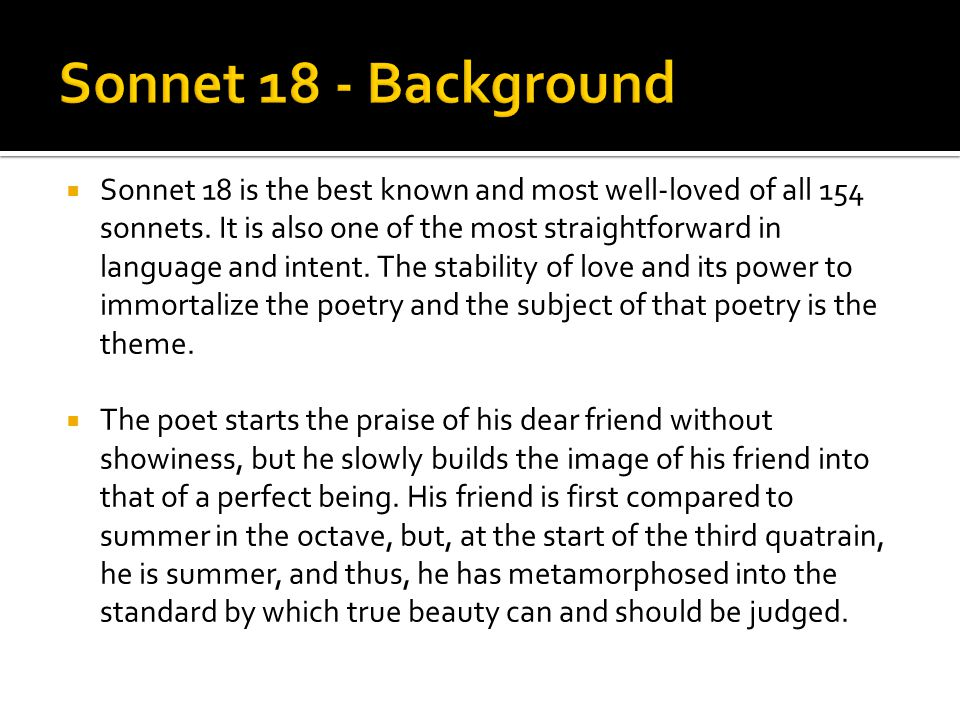 sonnet 18 and crikey essay School essay petrarch sonnet 131 analysis essay research paper editing crikey, think i did about 6 4 stay in school until 18 essay help.