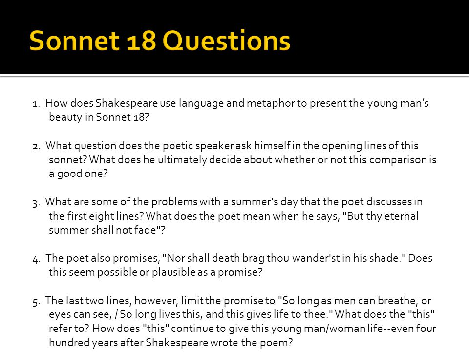 an analysis of william shakespeare of sonnet 18