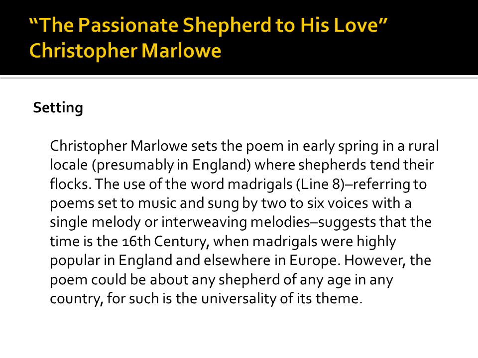 Christopher marlowe essay