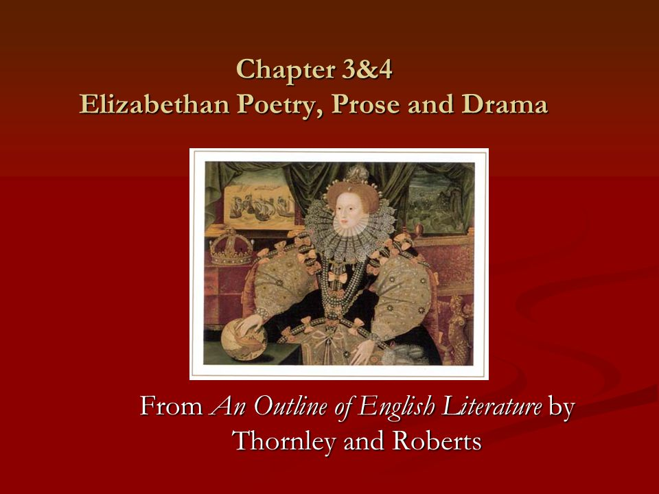 elizabethan poetry and prose
