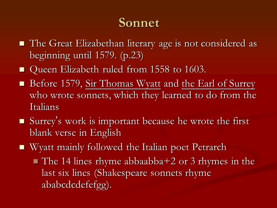 chapter elizabethan poetry prose and drama ppt video online  sonnet the great elizabethan literary age is not considered as beginning until 1579 p
