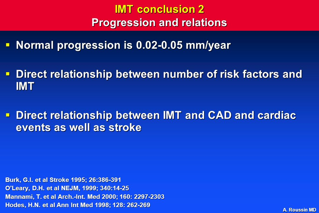 IMT conclusion 2 Progression and relations