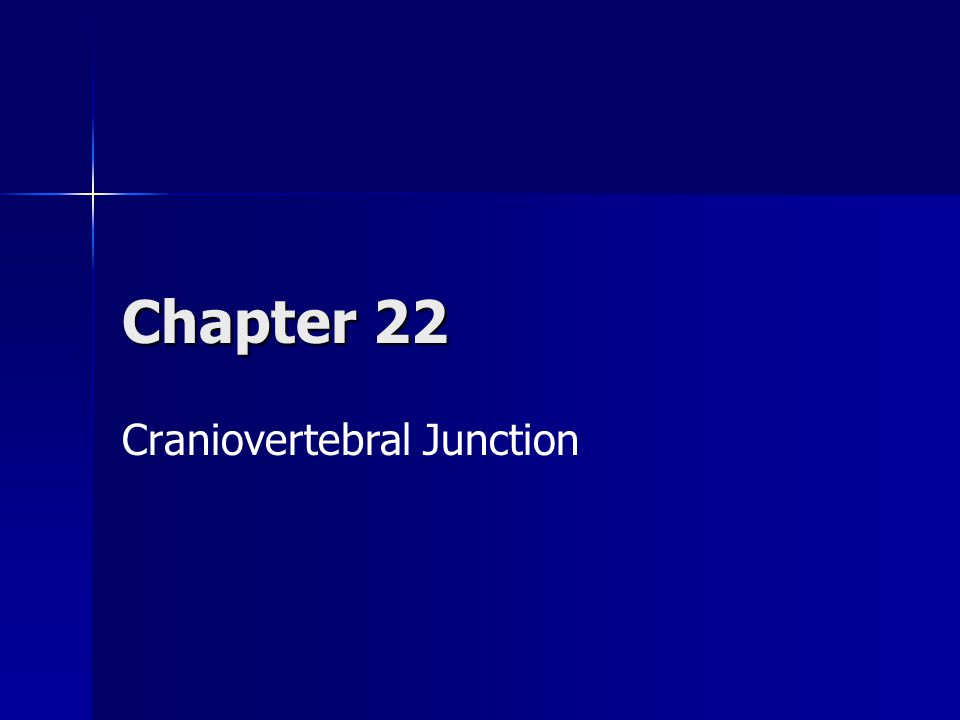 Craniovertebral Junction Ppt Video Online Download