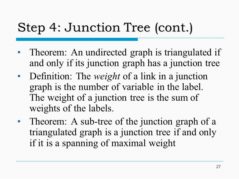 Step 4: Junction Tree (cont.)