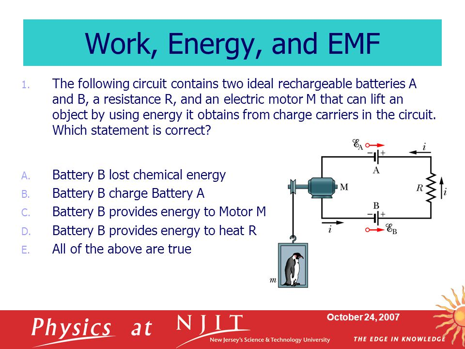 Work, Energy, and EMF