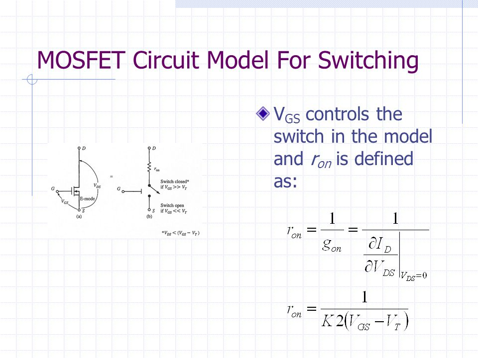 MOSFET Circuit Model For Switching