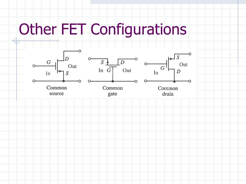 Other FET Configurations