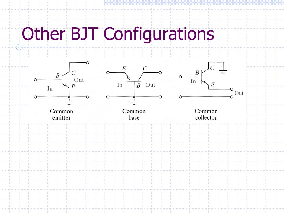 Other BJT Configurations