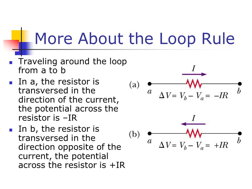 More About the Loop Rule