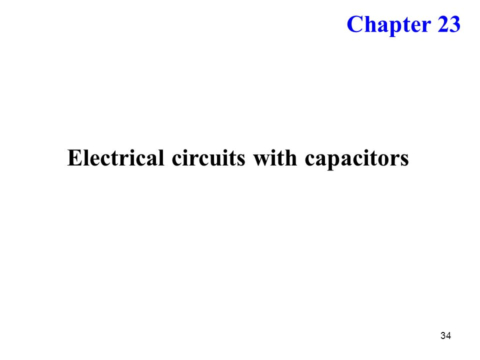 Electrical circuits with capacitors