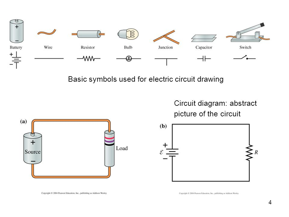 Basic symbols used for electric circuit drawing