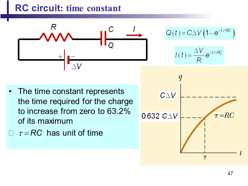 RC circuit: time constant