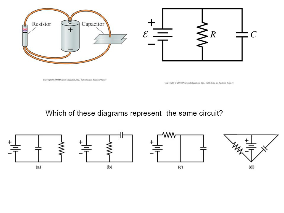 Which of these diagrams represent the same circuit