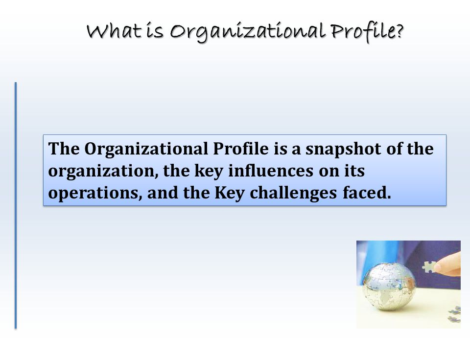 What is Organizational Profile