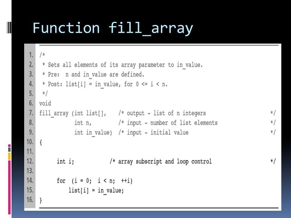 Function fill_array