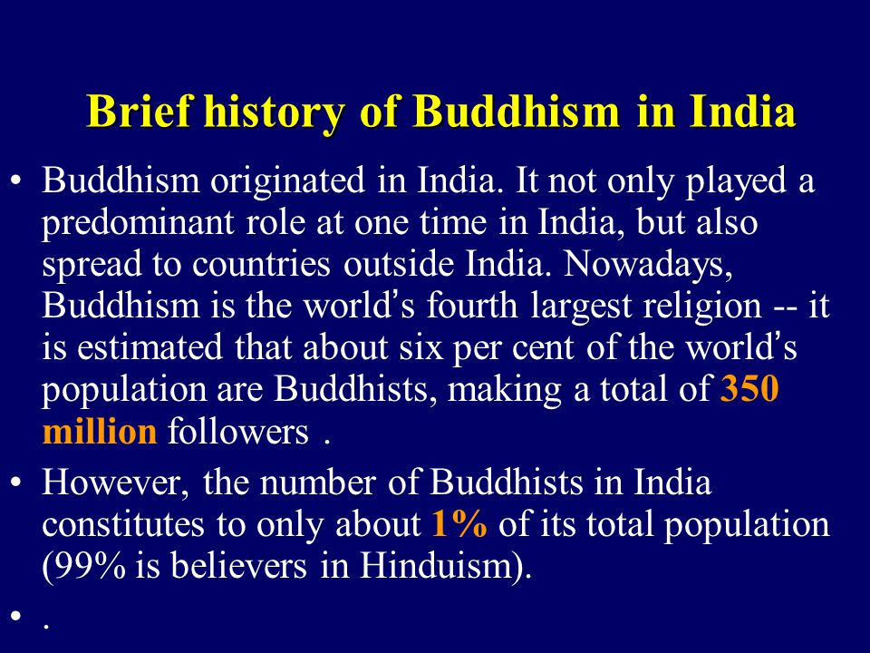 tho origin of buddhism Buddhism [(booh-diz-uhm, bood-iz-uhm)] a reli-gion, founded by the buddha, that emphasizes physical and spiritual discipline as a means of liberation from the physical world the goal for the buddhist is to attain nirvana, a state of complete peace in which one is free from the distractions of desire and self-consciousness.