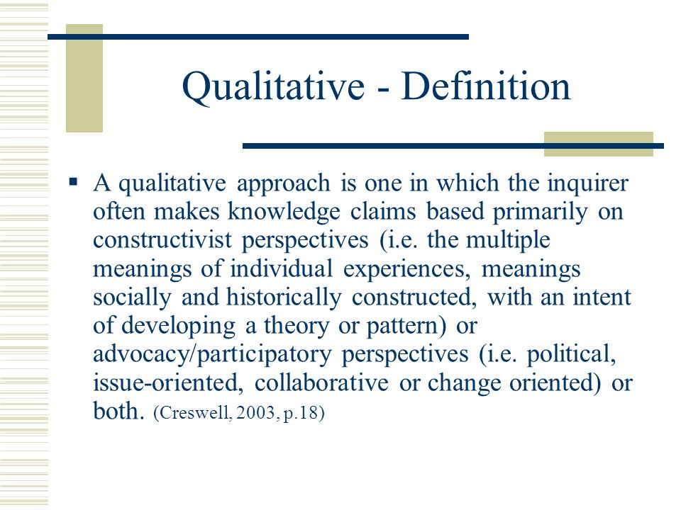 the definition of qualitative research pdf