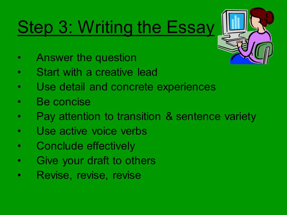how to write a successful college admissions essay ppt  step 3 writing the essay