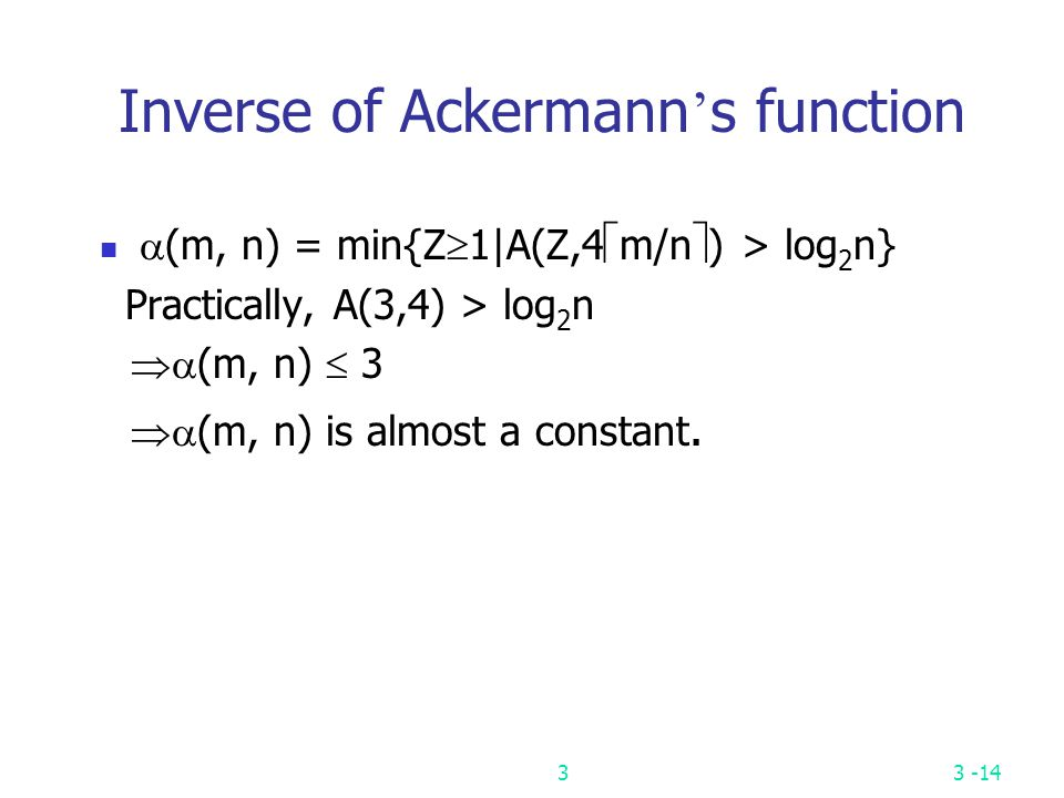 Inverse of Ackermann's function