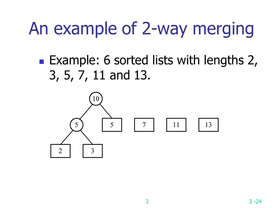 An example of 2-way merging