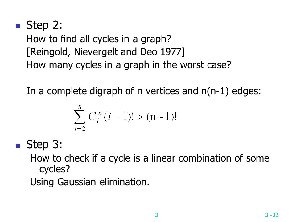 Step 2: Step 3: How to find all cycles in a graph