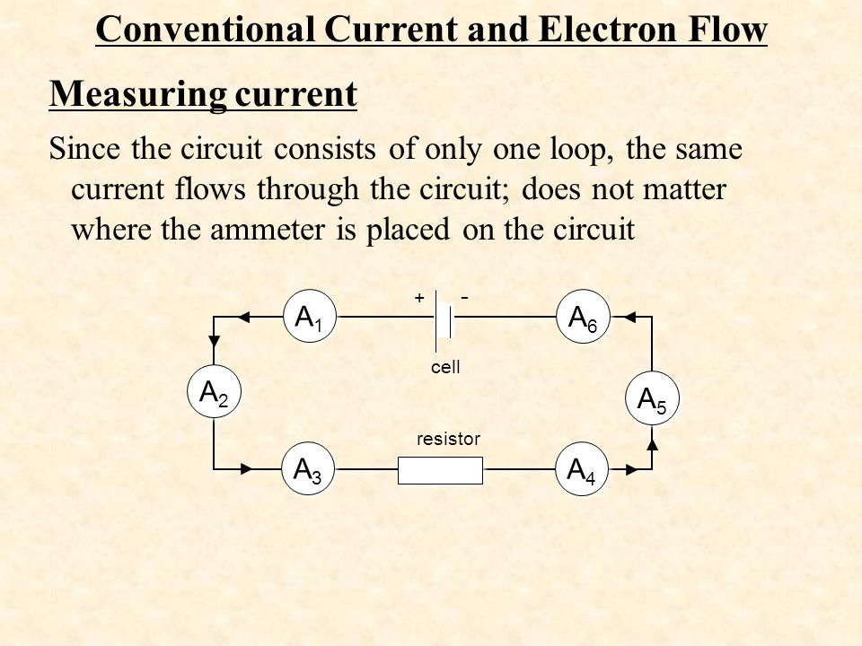 Conventional Current and Electron Flow