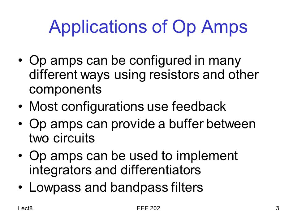 Applications of Op Amps