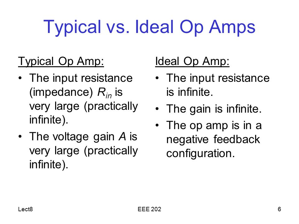 Typical vs. Ideal Op Amps