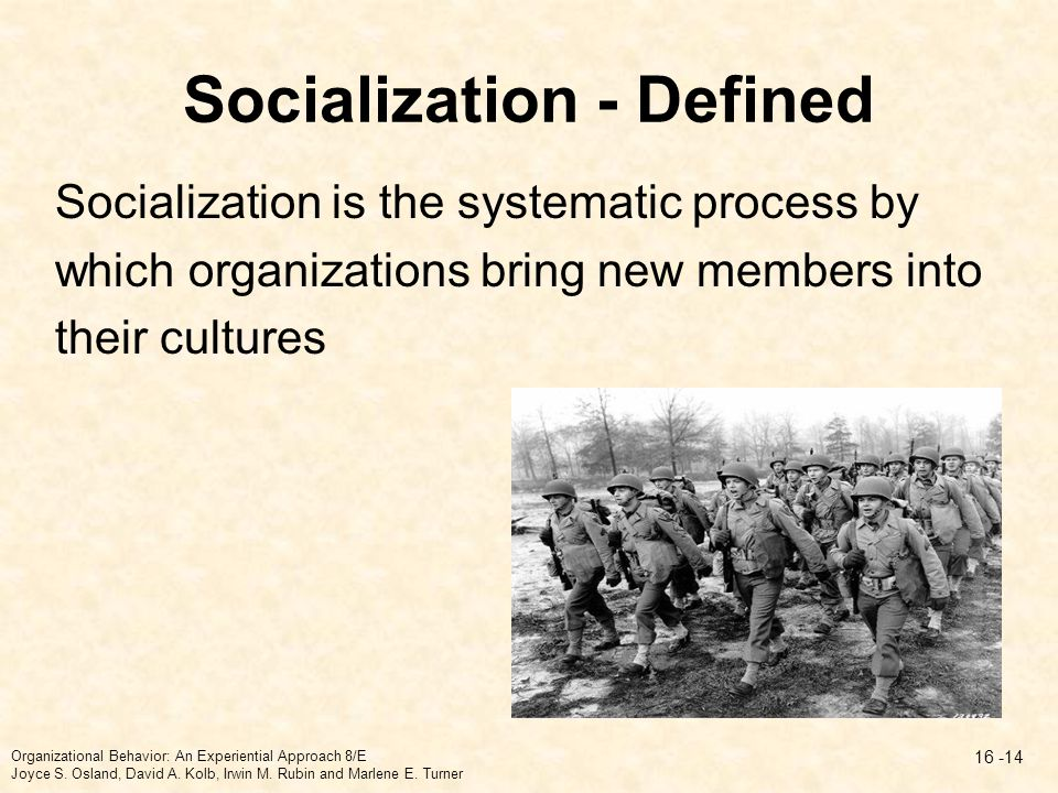 Socialization - Defined