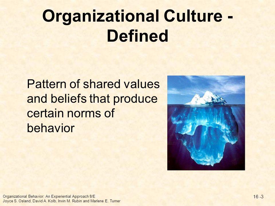 Organizational Culture - Defined