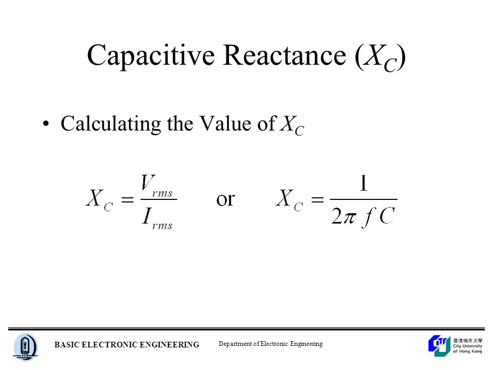 how to find the value for the capacitive value