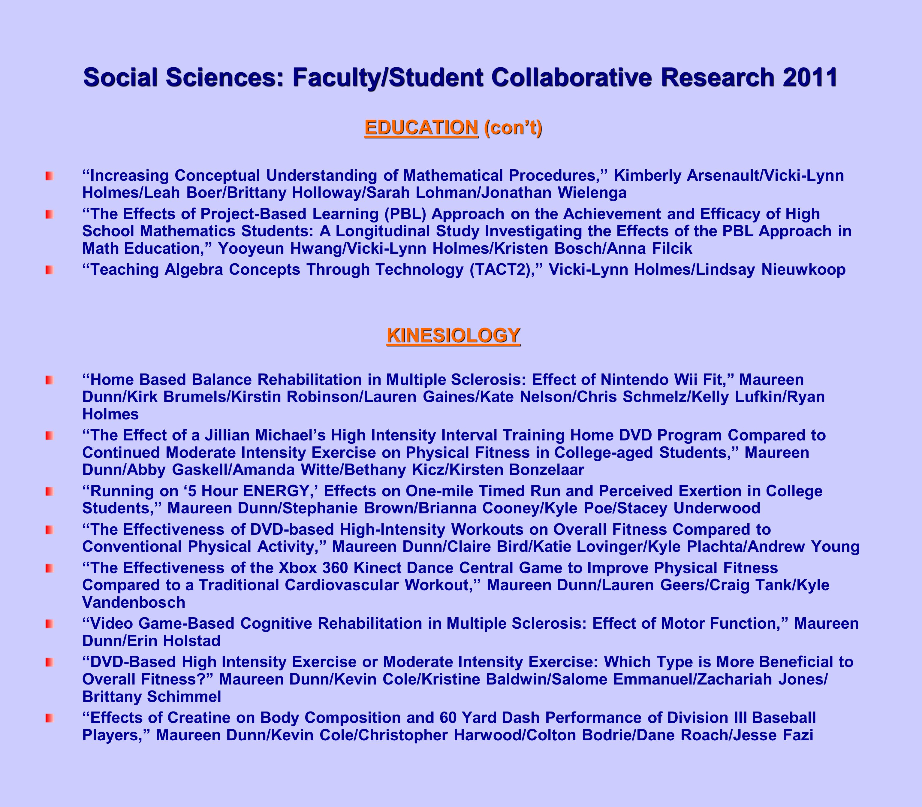 Collaborative Student Research ~ Social sciences publications ppt download