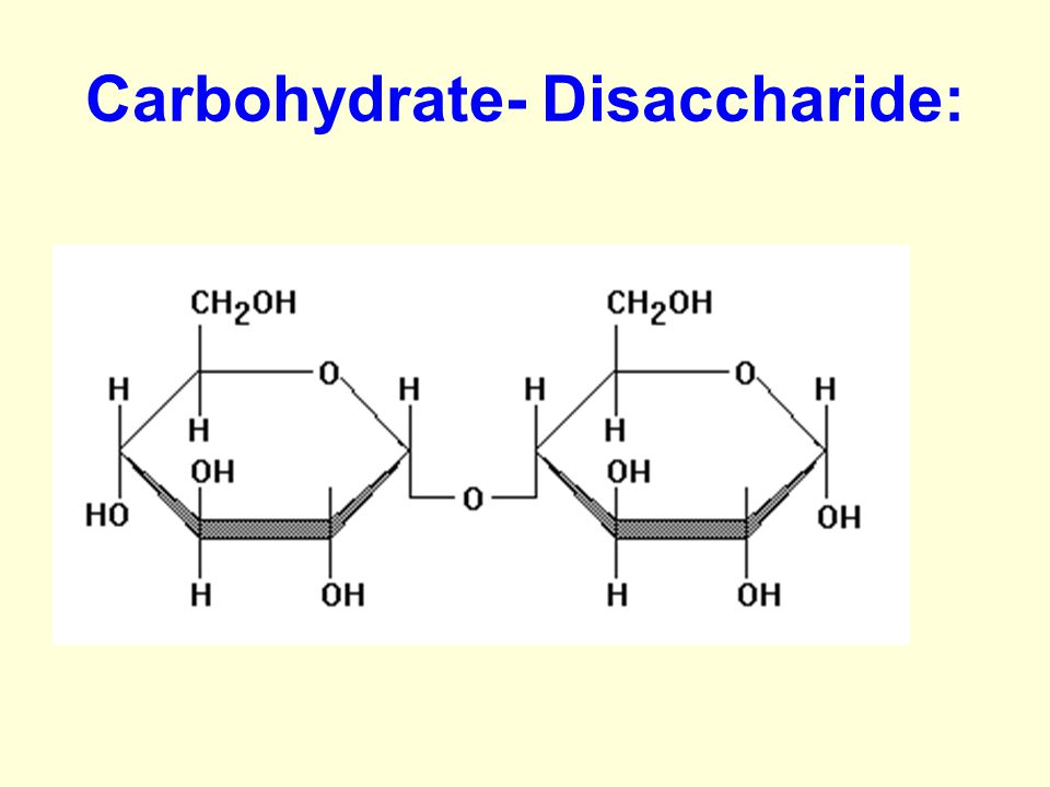 Carbohydrate- Disaccharide: